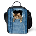 Adult Thermal Bag Women Animal Cute Cat Print Lunch Bag Kids Gilrs Lunch Box Large Picnic Insulation Package Totes Lancheira
