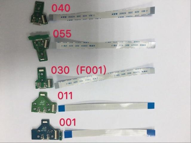 200 takım/grup USB şarj portu soket şarj cihazı kurulu PCB + kablo 12/14pin için PS4 denetleyici JDS 040 JDS 030 JDS 011 JDS 001 JDS 055
