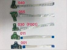 200 セット/ロット usb 充電ポートソケット充電器 pcb + ケーブル 12/14pin ため PS4 コントローラ JDS 040 JDS 030 JDS 011 JDS 001 JDS 055