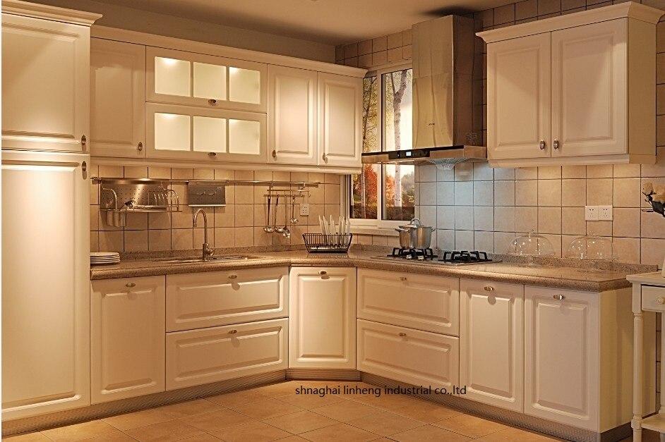 PVC/vinyl Kitchen Cabinet(LH-PV036)