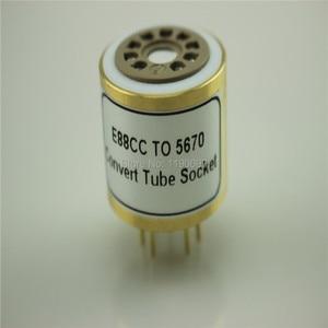 Image 3 - 1PC E88CC 6922 6DJ8 6N11 (Top) TOT 5670 6N3 (Bodem) elektronische Buis DIY Audio Vacuümbuis Adapter Socket Converter Gratis Verzending