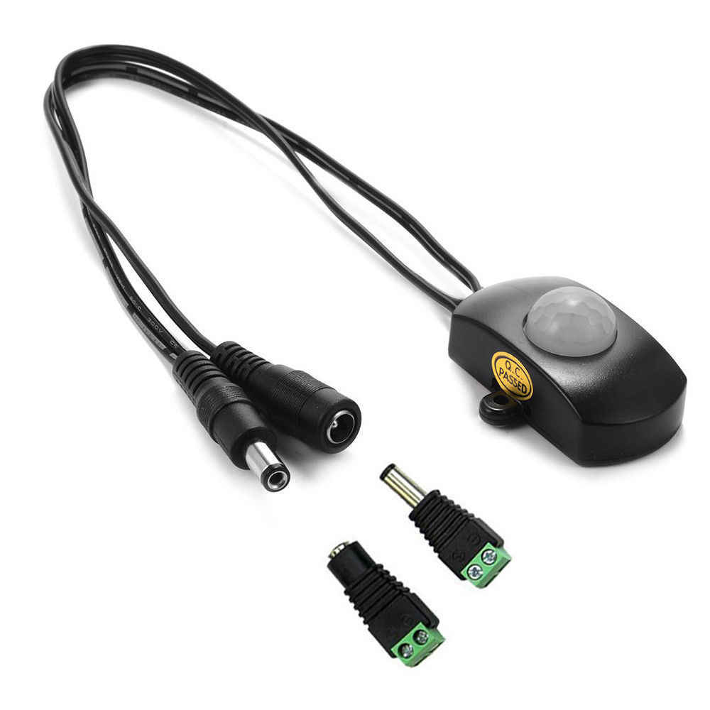 PIR Sensor Gerak Lampu DC USB Diaktifkan Timer Automatic Detector 5 V 12 V 24 V untuk 5050 3528 5630 LED Strip Lampu Modul