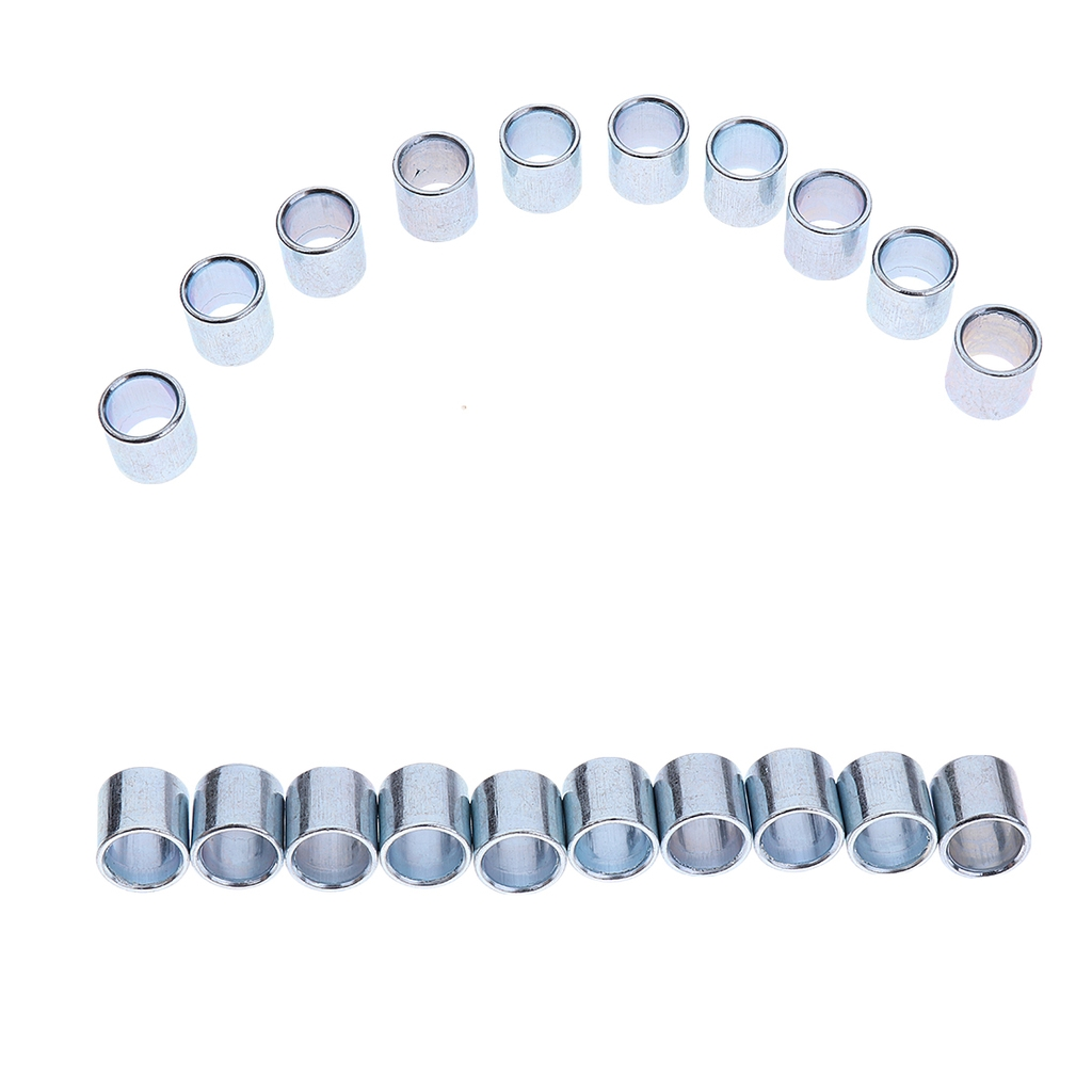 MagiDeal 20 Pieces Iron Inline Roller Skate Wheel Bearing Spacers Outdoor Skating Accessories ID 8MM OD 10MM