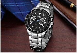 Image 4 - Mens Watches CURREN Fashion Business Quartz Watch Men Sport Full Steel Waterproof Wristwatch Male Clock Relogio Masculino