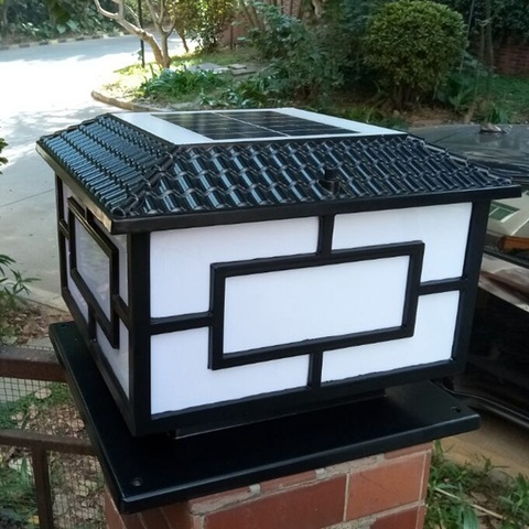 alta qualidade solar pilar lampada led solar