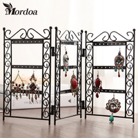Mordoa 1pcs Dangle Earrings Jewelry Black Metal Display Stand Holder Rack Necklace Jewelry Display Wrought Iron