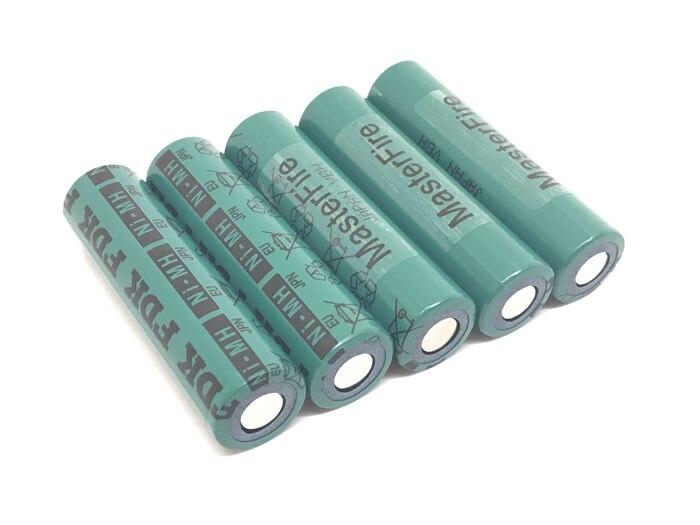 MasterFire 18 unids/lote 100% Original 18670 fdark 4500mah HR-4/3FAU NiMH 1,2 V baterías de batería Ni-MH