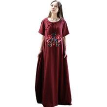 Embroidery Women Cotton Linen
