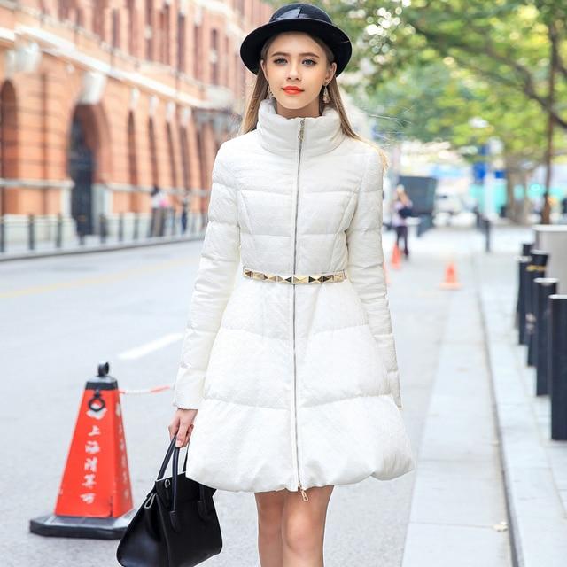 Winter Down Coat Women 2015 New European A line Design Slim