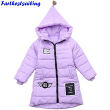 2018 Autumn Winter Jacket for Girls Clothes Cotton Padded Hooded Kids Coat Children Clothing Girl Parkas Enfant Jackets & Coats недорго, оригинальная цена