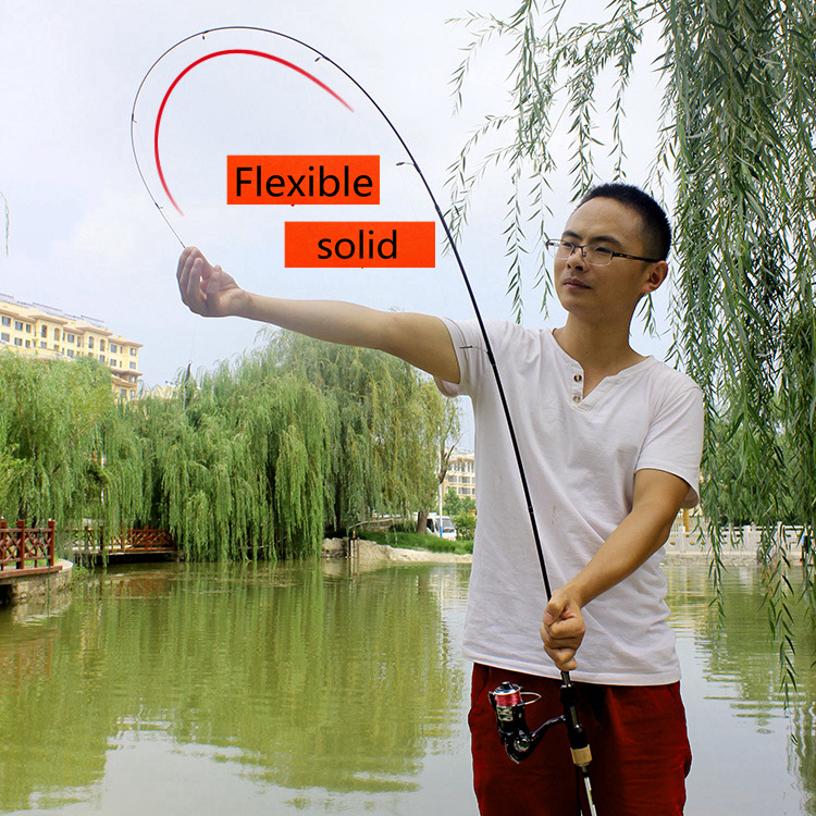 High Quality UL Spinning Fishing rod Lure Rod Spinning 1 68M 1 8M 1 6g Perch Spin Fast Rod Fishing Tackle Solid Tip pole in Fishing Rods from Sports Entertainment