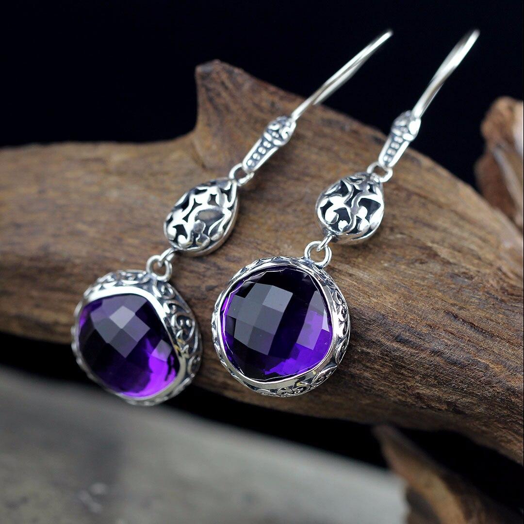 S925 silver jewelry earrings Indonesia folk style lady  Earrings