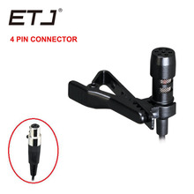Hotsale berkualiti tinggi omnidirectional lapel mikrofon kilang borong dengan skru mengunci penghantaran 3.5 mm percuma