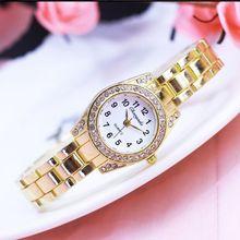 Mujeres reloj pulsera Mujer oro Relojes pequeño Dial cuarzo ocio reloj  Popular reloj hora femenina señoras 73cd419c2b9b