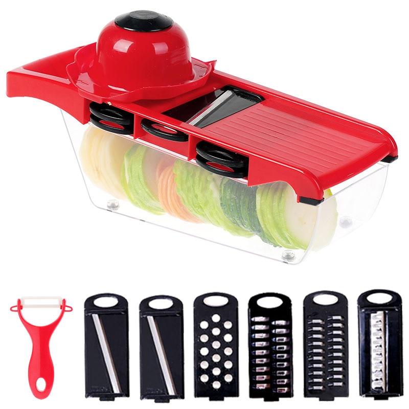 XUNZHE Tools Multi-Function Shredder Peeler Potato Potato Slicer Dicer Chopper Cutter Easy Container Tool Fruit & Vegetable