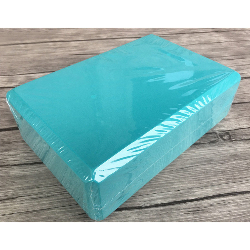 EVA Yoga Cork Block Blue Lightweight Portable Pilates Foam Brick Home Stretch Gym Fitness Exercise Tool Fitness Yoga Supplies