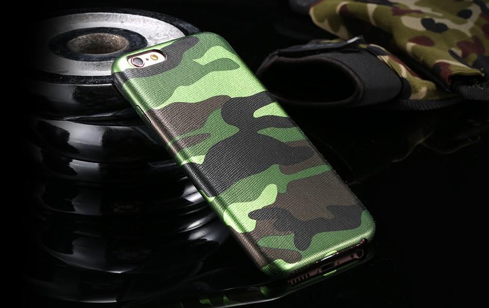 Dla iphone 7 5 5s se case wojskowy kamuflaż mężczyzn skórzane torby telefon sprawach dla iphone 7 7 plus pokrywa dla iphone 6 6s plus 5 5S se 14