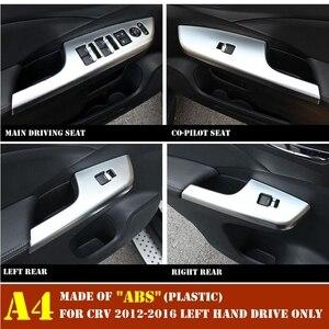 Image 3 - Poignée de porte, garniture de panneau de décoration intérieure pour Honda CRV CR V, 2012, 2013, 2014, 2015, 2016, lève vitre