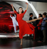 Hiện Đại chuyên nghiệp nhảy múa ba lê váy thanh lịch màu đỏ múa ba lê dài leotard người lớn trang phục trình diễn thời trang