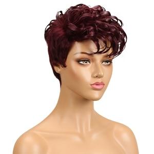 Image 3 - מלוטש ברזילאי רומנטיקה לארוג שיער טבעי פאות רמי לא תחרה מול שיער טבעי פאות לנשים שחורות Perruque Cheveux Humain
