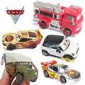 Carros da Pixar 2 Caminhão de Bombeiros Vermelho Prata Chrome Diecast Toy Metal Car 1:48 Carro de Brinquedo Para As Crianças Coleção Decoração Crianças Brinquedos