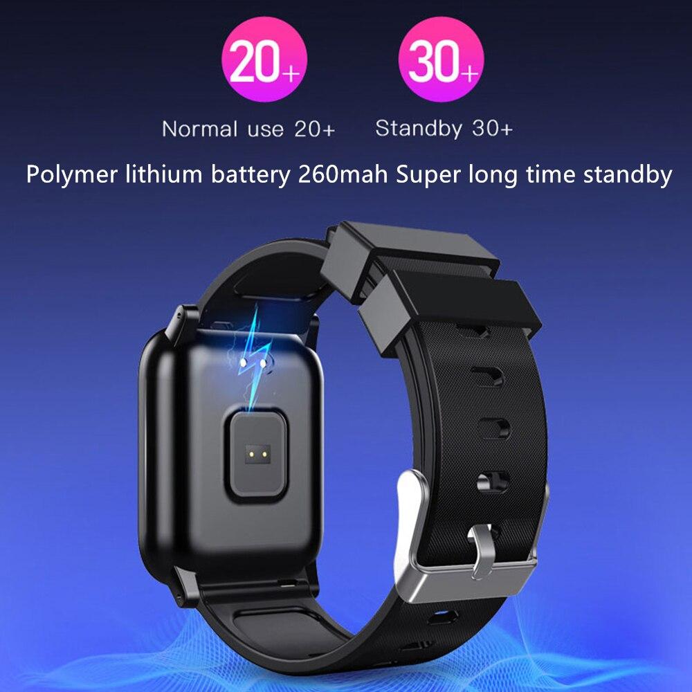 Image 2 - L8star B1 Smart Wristband Bracelet watch Heart Rate Blood Oxygen SMS Reminder Diving Swim Run fitness Sport TrackerSmart Wristbands   -