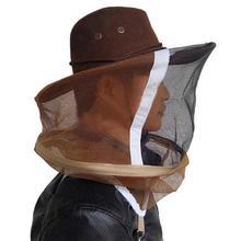 גידול דבורים כוורן מסכת קאובוי כובע יתושים דבורה נטו רעלה מלא פנים צוואר כיסוי חיצוני באג Mesh מסכת ראש מגן כובע