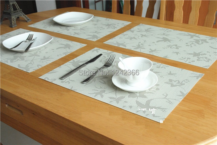Household Pvc Material Table Mat Placemat Coasters Cup Mat