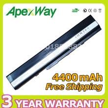 Apexway 4400 мАч ноутбука Батарея для Asus A31-K52 A41-K52 A32-K52 A42-K52 A52 A52F A52J K42 K42F K52F K52 K52J K52JC k52JE