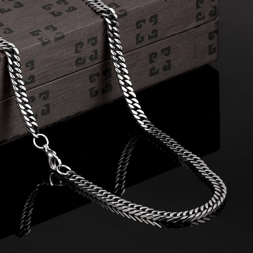 neckless kolye chain correntes men fathers day beatle steel titanium zwarte black antique gypsy free shippin Dahu Rico necklaces