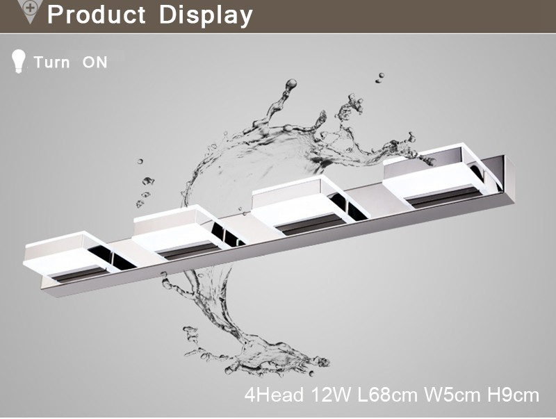 Morden 3W-12W Anti-fog Waterproof Acrylic Led Mirror Light Bathroom Wall Lamp Brief Individuality Make-up Mirror Cabinet Lamp