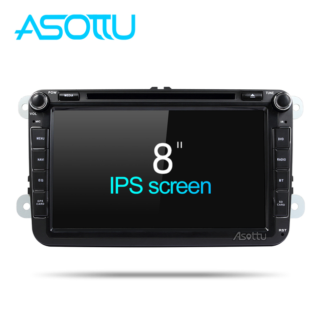 Asottu KCDZ8071 2G + 32 GB 1024*600 reproductor de dvd del coche para skoda VW POLO GOLF 5 6 PASSAT CC JETTA TIGUAN TOURAN Fabia Caddy gps Player