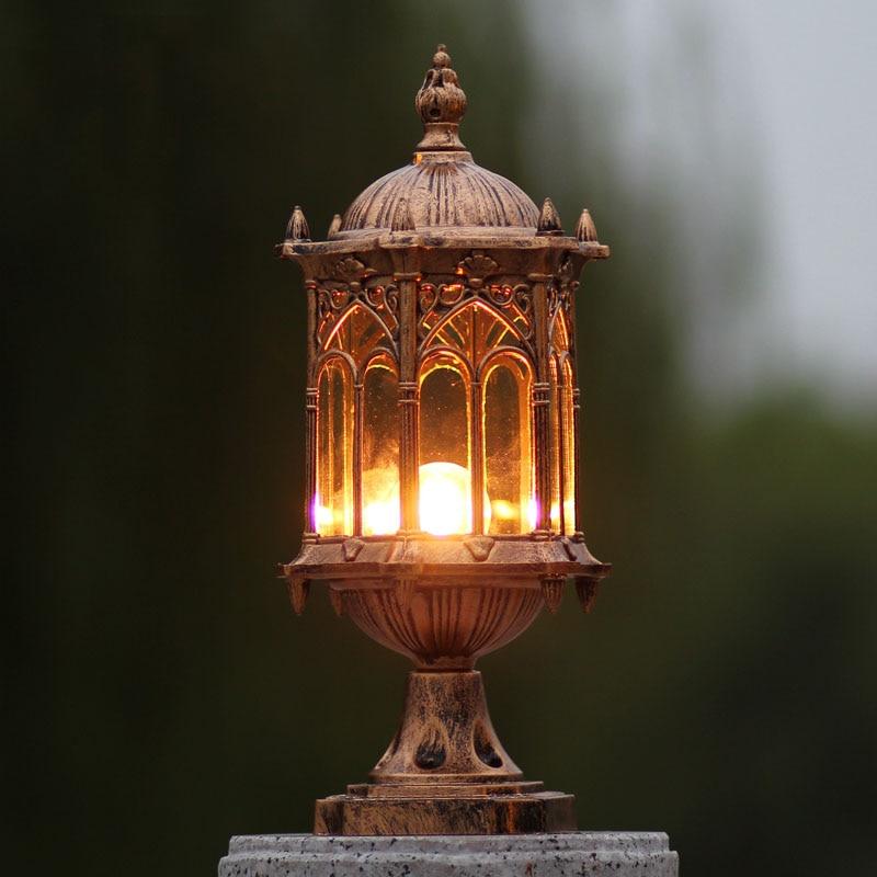 Outdoor Column Headlights,balcony Waterproof Pillar Lights,European Series