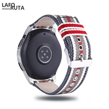 Laforuta Nylon Band Samsung Galaxy Watch Active Band Gear S3 Frontier Galaxy Watch 46mm Strap 20mm 22mm Quick Release Watchban laforuta nylon band for samsung galaxy watch active band galaxy 42mm strap classic s2 sport 20mm quick release watch band