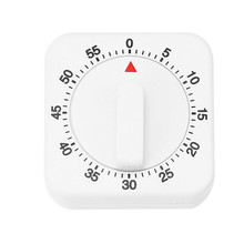 Портативный 60 минут кухонный таймер отсчет вниз Будильник Напоминание белый квадратный механический таймер для дома Инструменты для выпечки Прямая Новинка