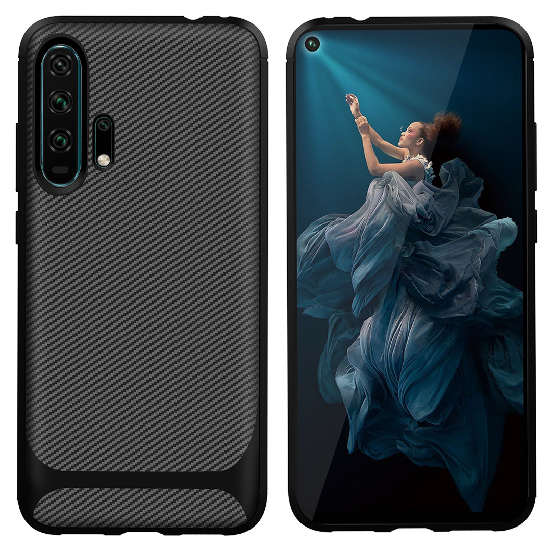 20 For Huawei Honor 20 Case Honor20 Carbon Fiber Textue Silicone TPU Soft Back Cover for Huawei Honor 20 Pro Phone Case Phone Bag (2)