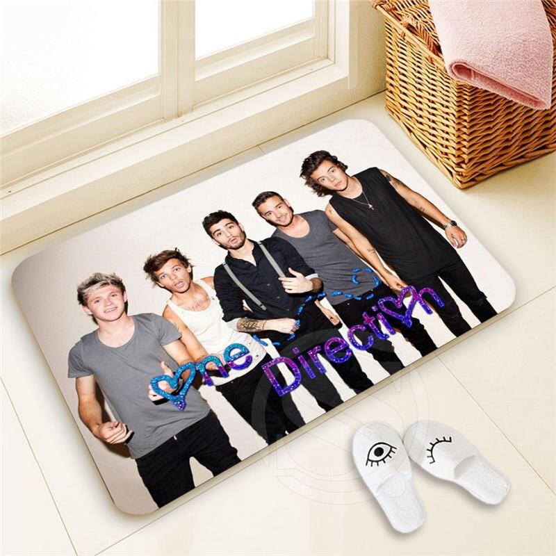 H-P368 Custom one direction #2 Doormat Home Decor 100% Polyester Pattern Door mat Floor Mat foot pad SQ00722-@H0368