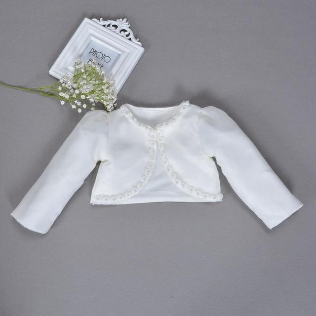 0f96857e5 Baby Girl Cardigan Shawl 100% Cotton White Baby Shrug Sweater For 1 ...