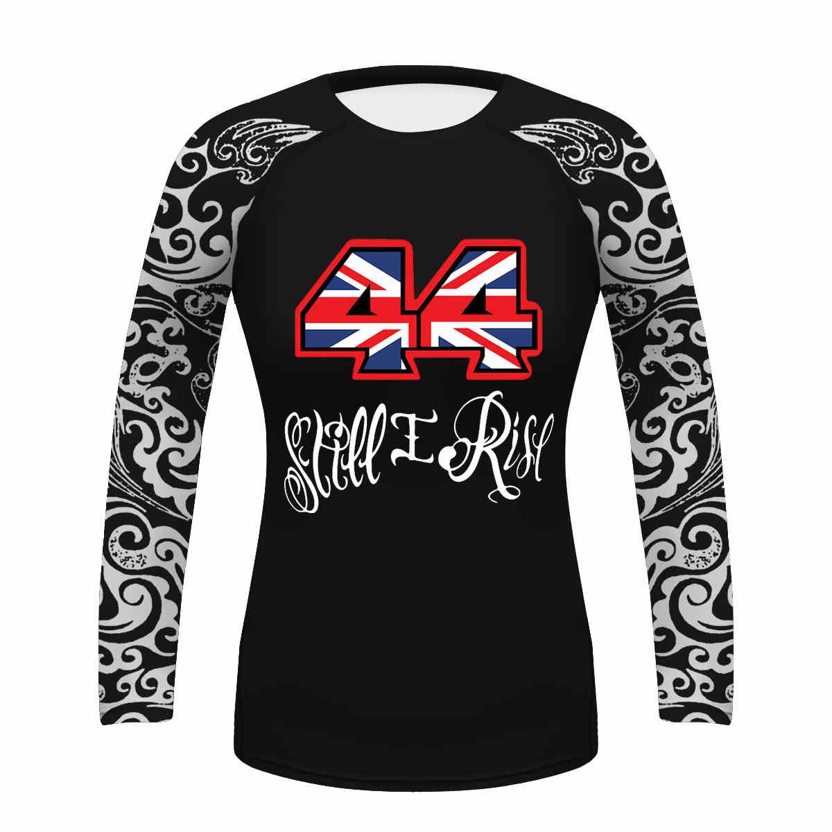 <+>  Custom 44 Still I Rise Moter рубашка женская длинная футболка йога рубашка Quick Dry Tops спортивные ★