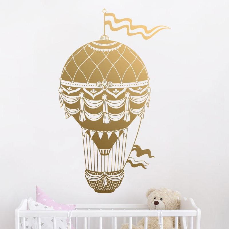 Hot Air Balloon Wall Decal Balloon Wall Decor Nursery Wall
