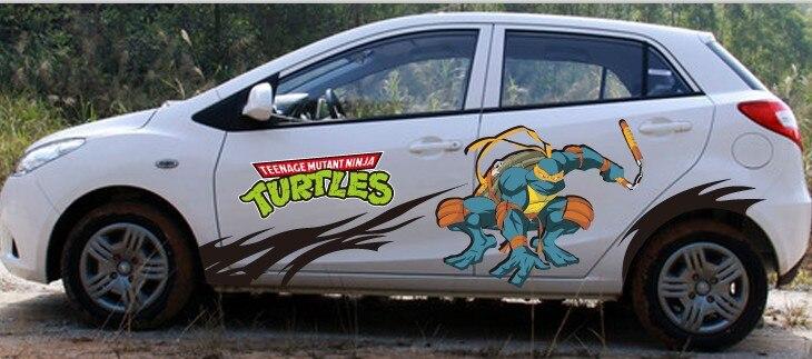 Itasha 2 pieces teenage mutant ninja turtles car sticker ninja turtles car stickers michelangelo sticker donatello decal on aliexpress com alibaba group
