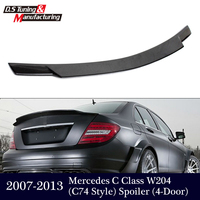 Mercedes W204 C74 Style Carbon Fiber Spoiler For Benz C Class W204 4 Doors 2007 2013 Sedan