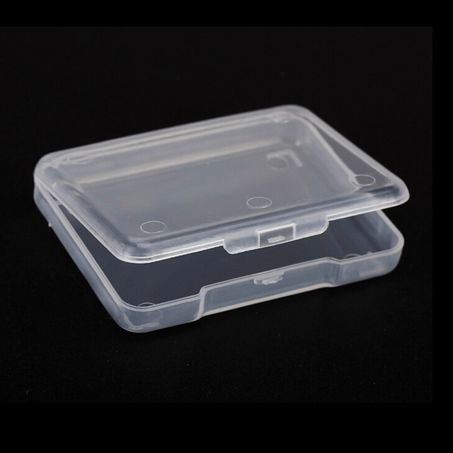 5PCS Clear Collection Container Case Store Small Clear Plastic Transparent  With Lid Storage Box Jewelry Finishing