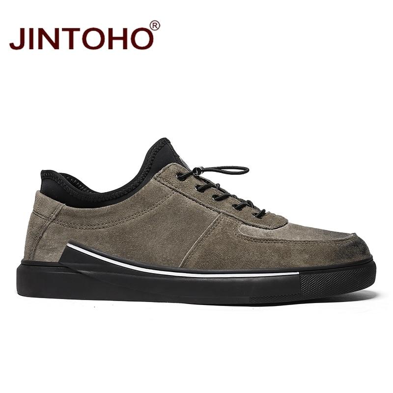 Casual Jintoho Black gray Marca Sapatos Preto Alta Homens Sobre Grife Masculinos Da Luxo Couro De Qualidade Mocassins Deslizar khaki Para TrTYUqv