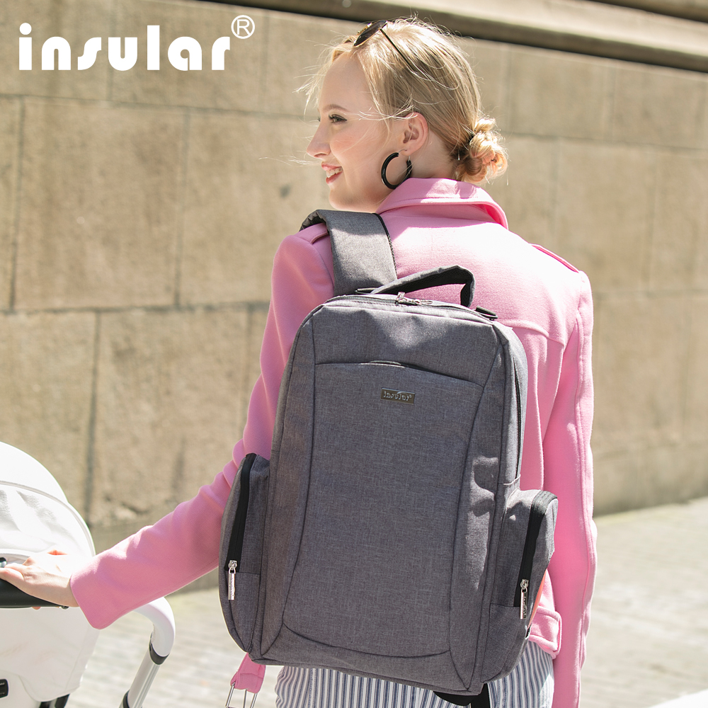 Multifuctional Structure Backpack Canvas Diaper Bags High-capacity Storage Bag Outgoing Bags