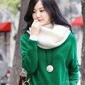 Мужчины И Женщины Зима Осень Шерсть Вязаный Шарф Трубки Кольцо Толщиной теплый Ветер Маска Платки Рождество Корейский Новый Год Подарок K-pop Палантины