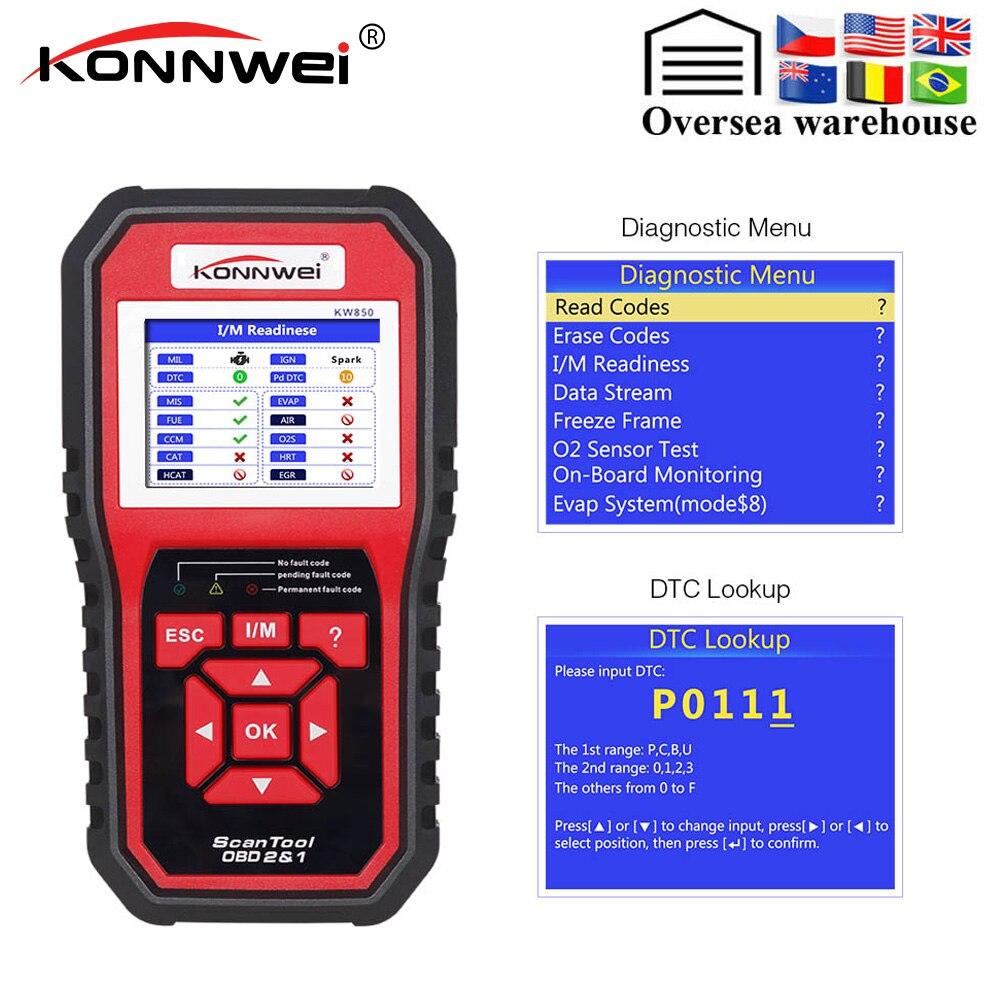 Sporting Konnwei Kw850 Obd2 Eobd Can Bus Auto Diagnostic Tool Een Klik Update Konnwei Kw 850 Beter Dan Al519 Ad410 Ad510 Scan Tool Perfect In Vakmanschap