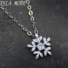 FYLA MODE 2017 Genuine Silver Snowflake Necklace Pendants for Men/Women 925 Sterling Silver Necklace Jewelry Lover's Gift FYS007