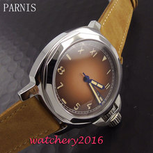 44mm Parnis coffee dial date adjust polished case sapphire glass mens watches top brand luxury automatic self-wind Men's Watch