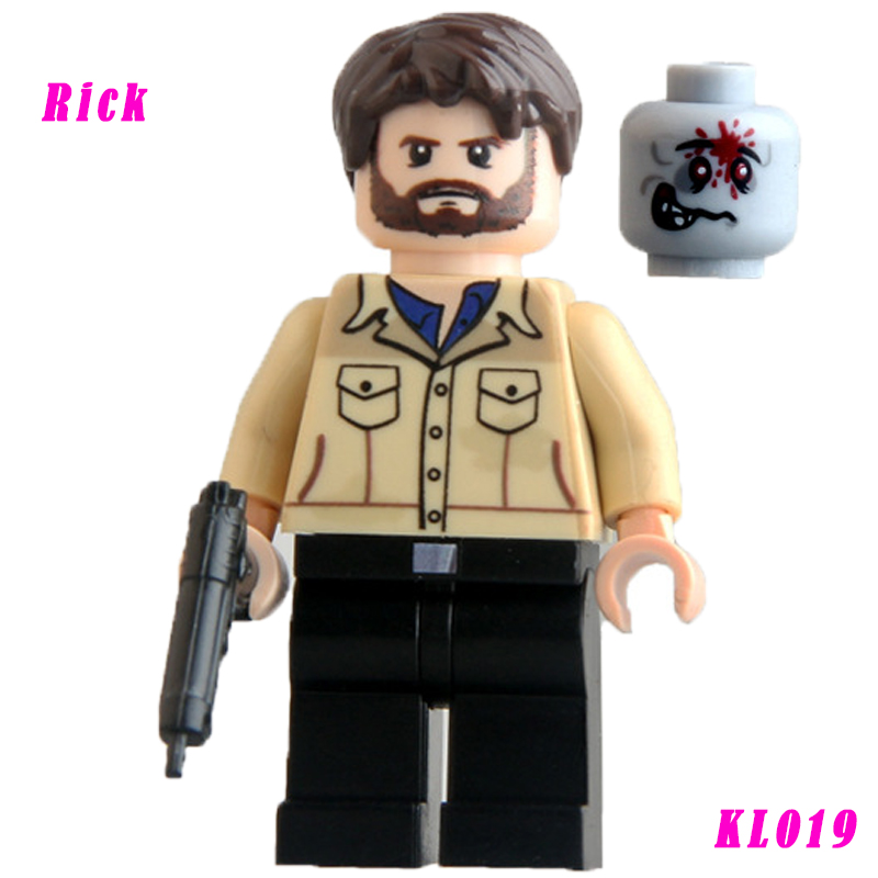 Building Blocks Daryl Dixon Rick The Walking Dead Figures Star Wars Super Heroes Assemble Action Bricks Kids DIY Toys Hobbies building blocks the walking dead figures rick negan carl daryl star wars super heroes set assemble bricks kids diy toys hobbies